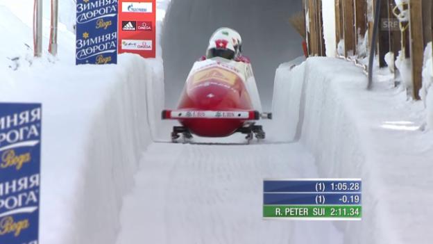 Video «Bob: Viererbob St. Moritz: 2. Lauf Peter» abspielen