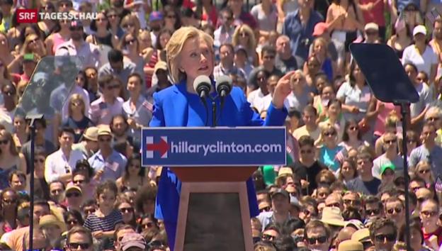 Video «Hillary Clinton legt los» abspielen