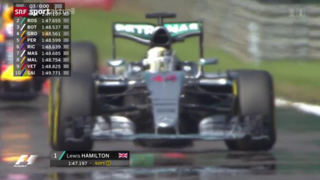 Video «Formel 1: Qualifying zum GP Belgien in Spa» abspielen