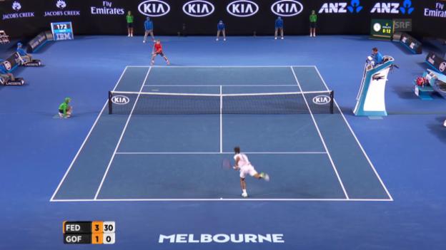 Video «Federer-Asse im Schnelldurchlauf» abspielen