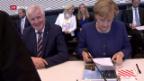 Video «Der Machtkampf zwischen Merkel und Seehofer» abspielen