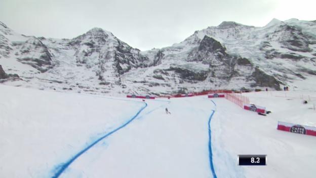 Video «Ski: 2. Training Lauberhorn, Fahrt Janka» abspielen