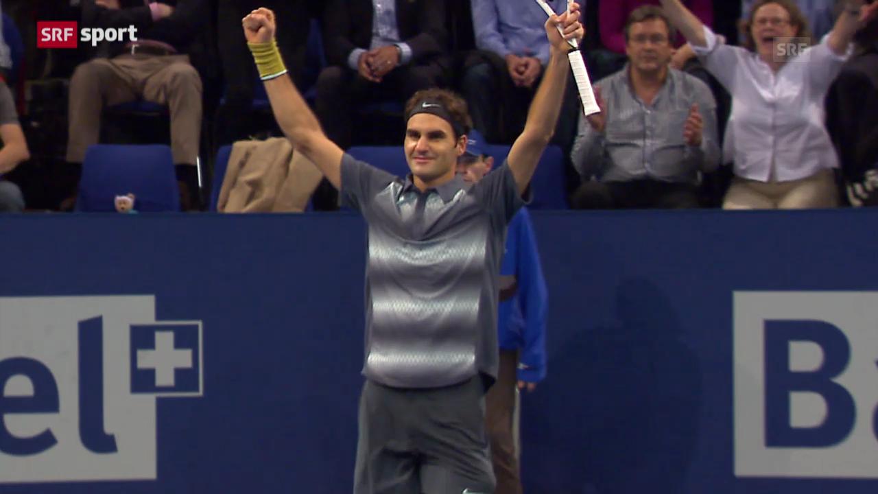 Swiss Indoors: Federer - Pospisil («sportaktuell»)