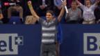 Video «Swiss Indoors: Federer - Pospisil («sportaktuell»)» abspielen
