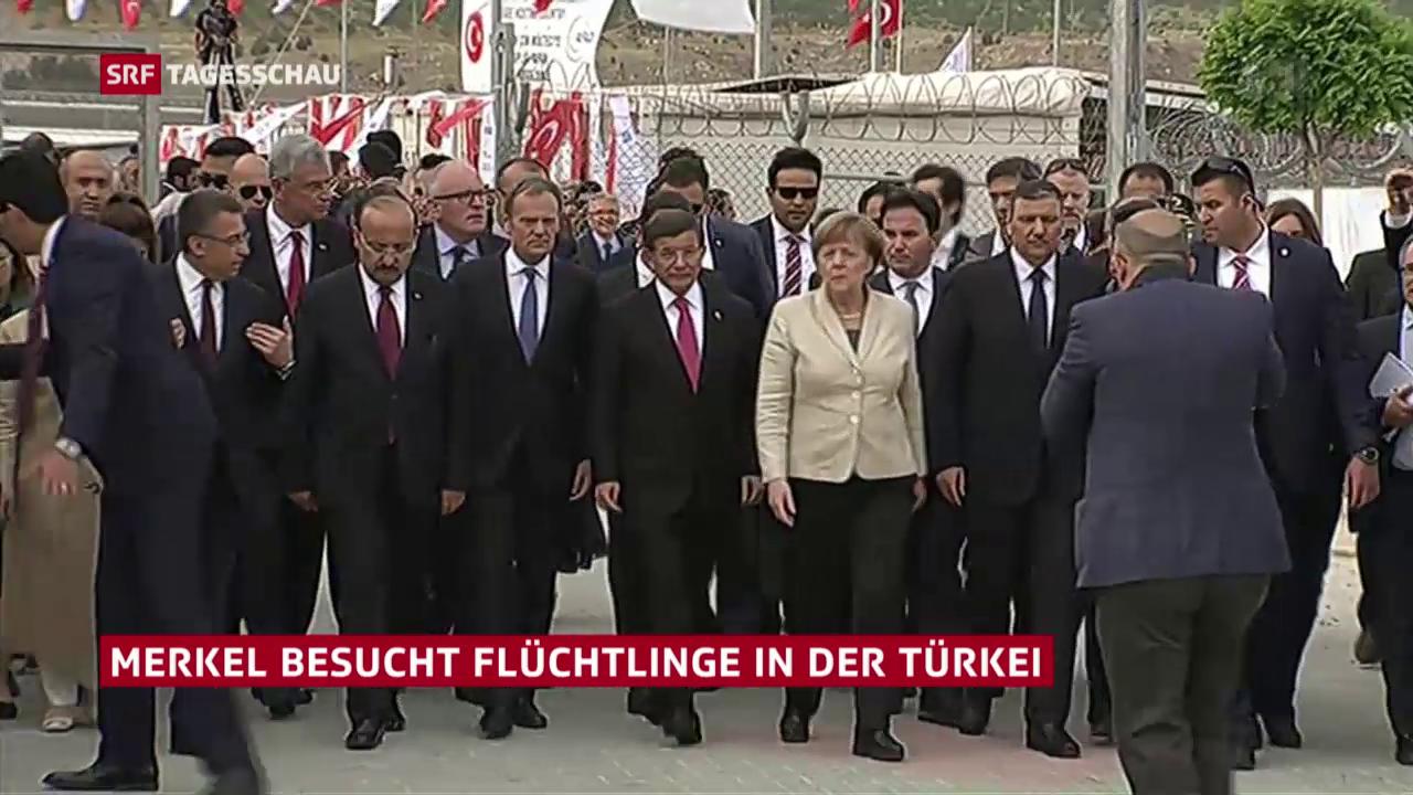 Besuch mit Spannungen: Merkel in der Türkei