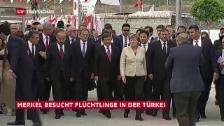 Video «Besuch mit Spannungen: Merkel in der Türkei» abspielen