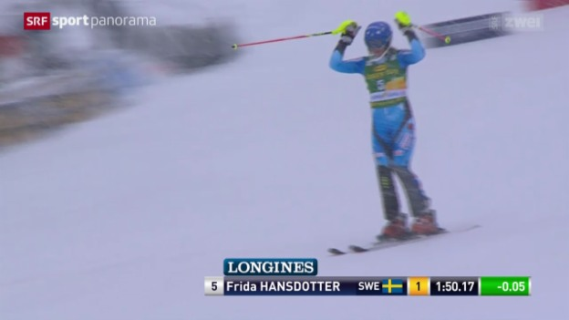Video «Ski: Slalom Frauen in Kranjska Gora» abspielen