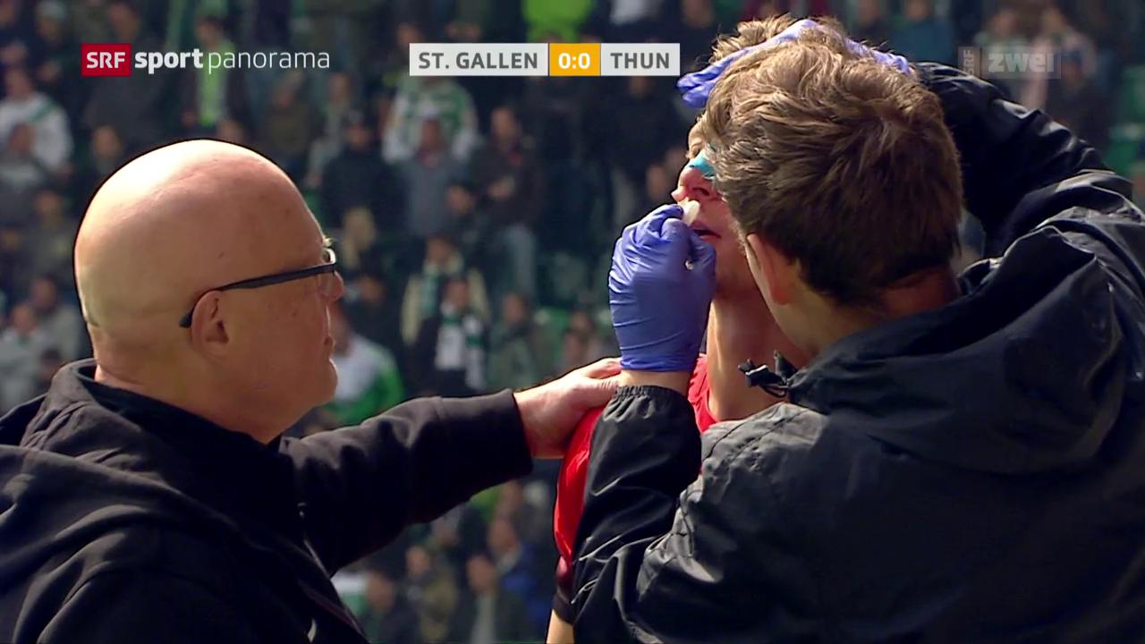 Thun entführt 3 Punkte aus St. Gallen