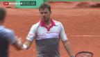 Video «Wawrinka zieht am Heimturnier in Genf in die Viertelfinals ein» abspielen