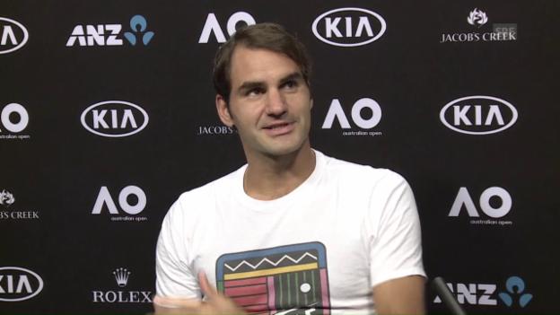 Video «Federer über Wawrinka und seine eigenen Erwartungen (engl.)» abspielen