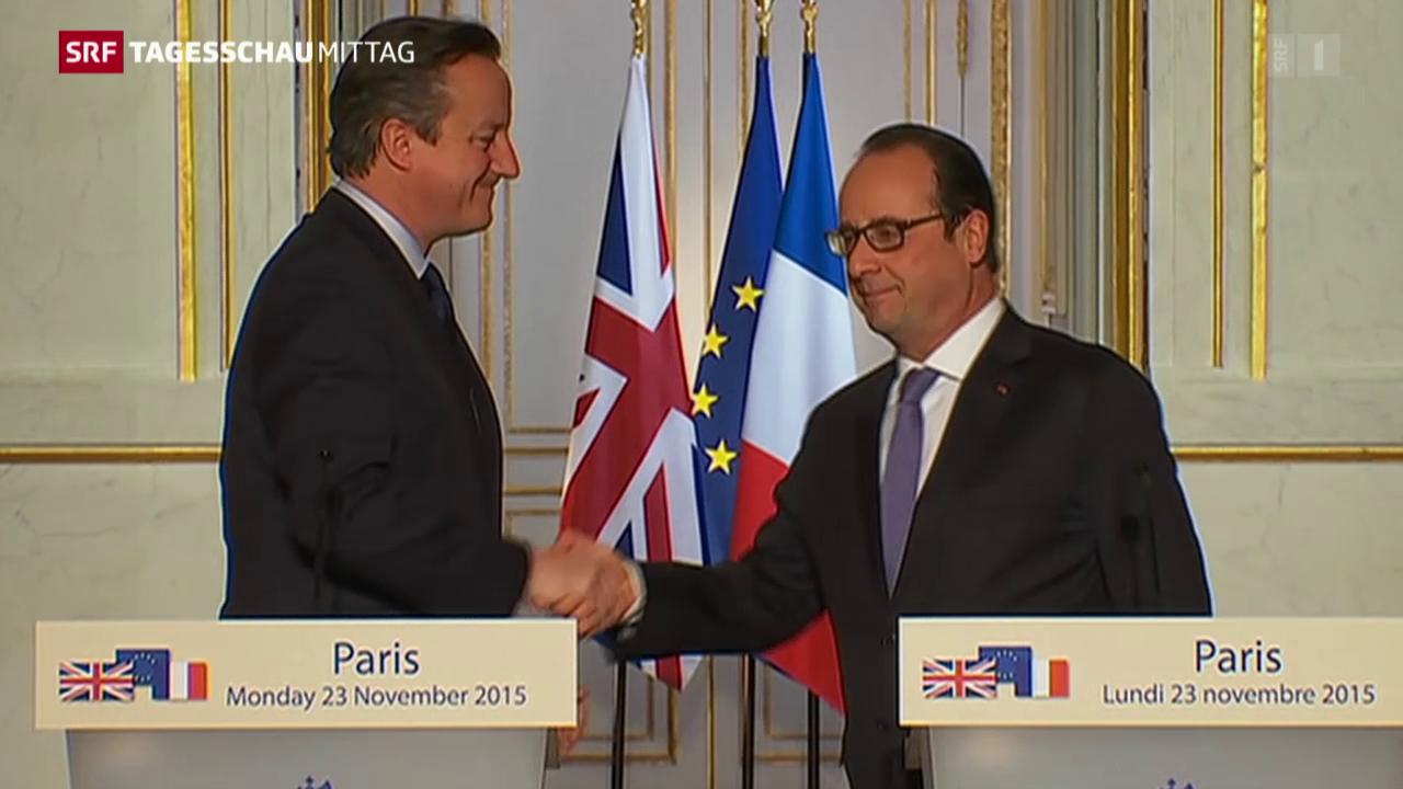 Cameron verspricht Frankreich Unterstützung