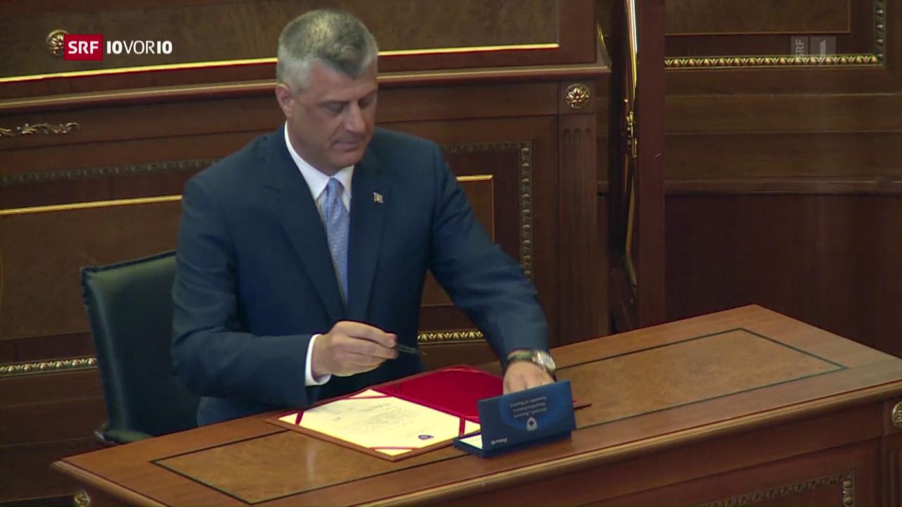 Thaçi als kosovarischer Präsident vereidigt