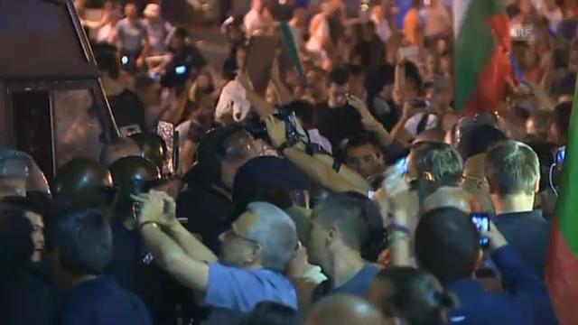 Blockade vor Parlament in Sofia (unkomm.)