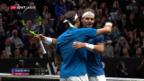Video «Federer/Nadal gewinnen im Doppel» abspielen