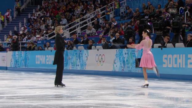 Video «Eiskunstlauf: Eistanz, Kurztanz von Davis/White (Sotschi direkt, 16.2.2014)» abspielen
