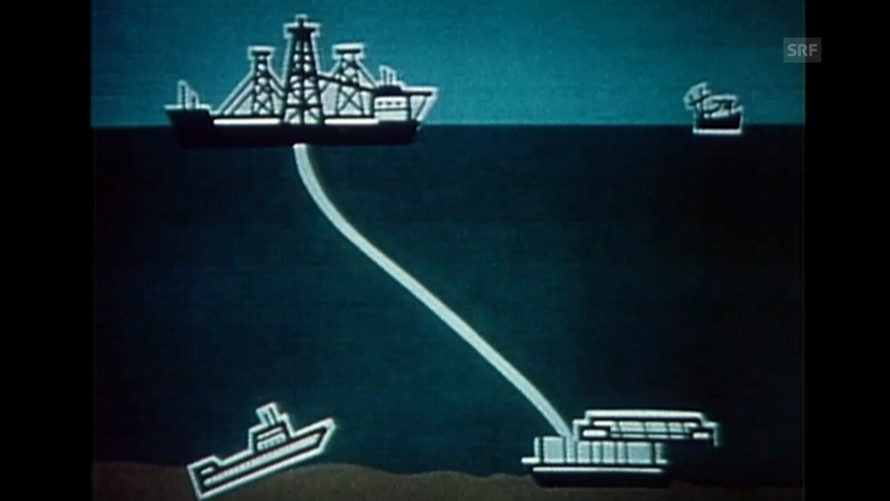Skizze zur Bergung des U-Boots K-129