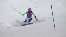 Video «Ski: Slalom Männer, Madonna di Campiglio, 1. Lauf Luca Aerni» abspielen