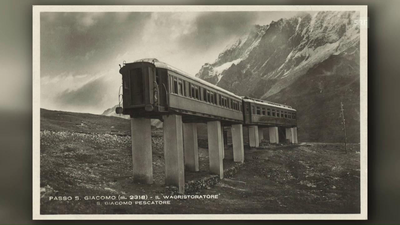 Zwei Eisenbahnwagen provozieren die Armee am Gotthard