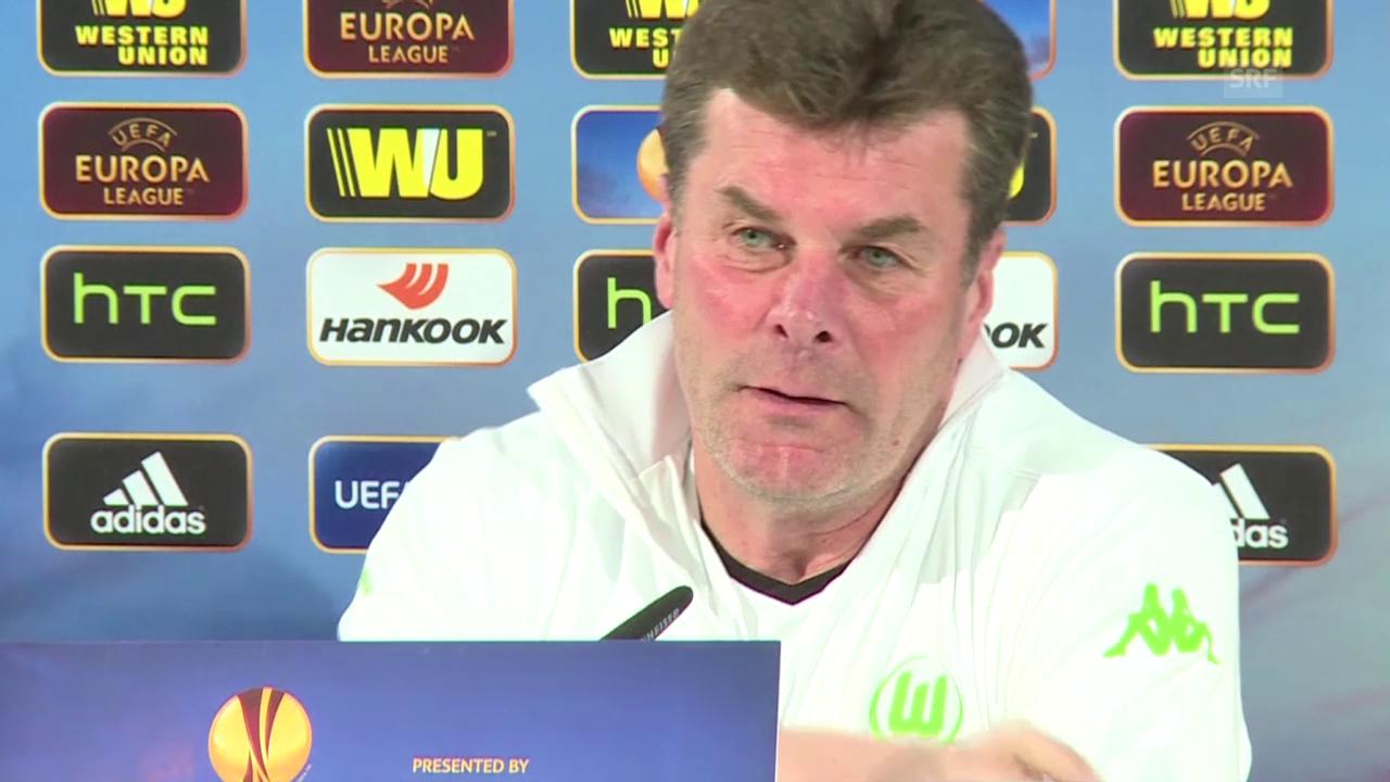 Fussball: EL, Wolfsburg vor 1/4-Final-Hinspiel