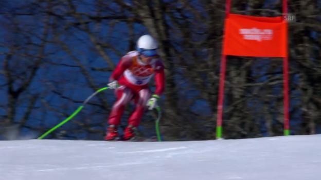 Video «Ski: 2. Training zur Olympia-Abfahrt, Carlo Janka («Sotschi direkt» vom 7.2.2014)» abspielen