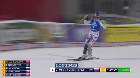 Video «Die Siegfahrt von Veronika Velez Zuzulova in Flachau» abspielen
