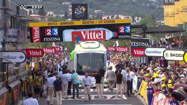 Teambus steckt auf Ziellinie fest («sportlive»)