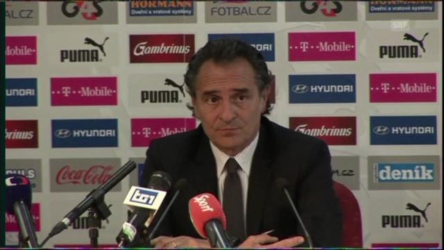 Pressekonferenz mit Cesare Prandelli (italienisch)