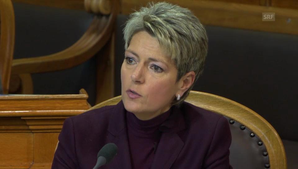 Karin Keller-Sutter: Ein Notvorrat ist dazu da, in der Not gebraucht zu werden