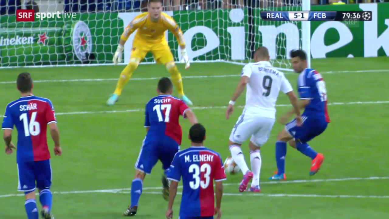 Fussball: Champions League, Reals Tore zum 2:0 und 5:1 gegen Basel