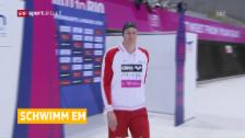 Video «Yannick Käser wird über 100 m Brust EM-8.» abspielen