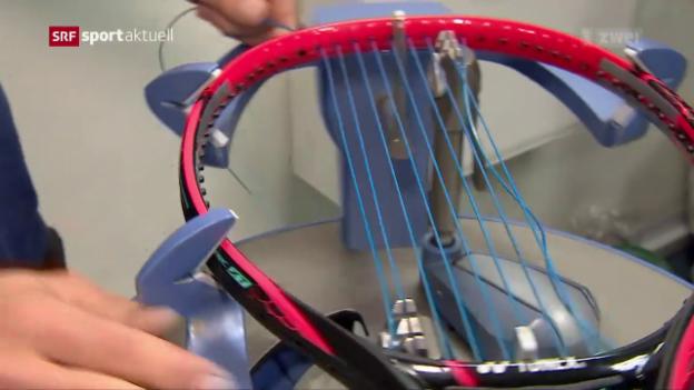Video «So werden in Wimbledon die Rackets bespannt» abspielen