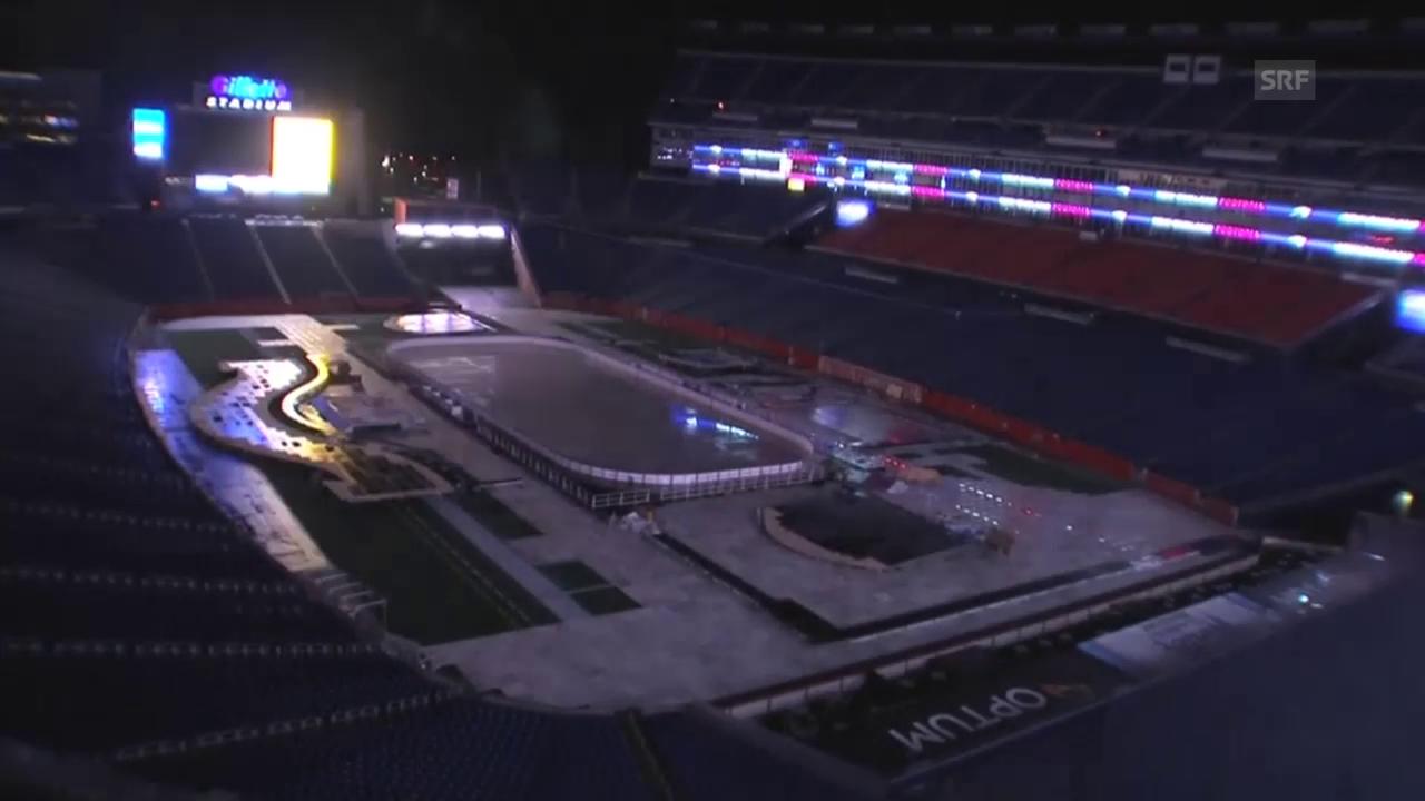 Eishockey: NHL, Winter Classic, Verwandlung Stadion im Zeitraffer (Quelle: SNTV)