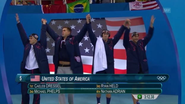 Video «Phelps holt 23. Olympia-Medaille» abspielen