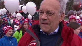 Video «Erster Termin: Johann Schneider-Ammann eröffnet Skilager» abspielen