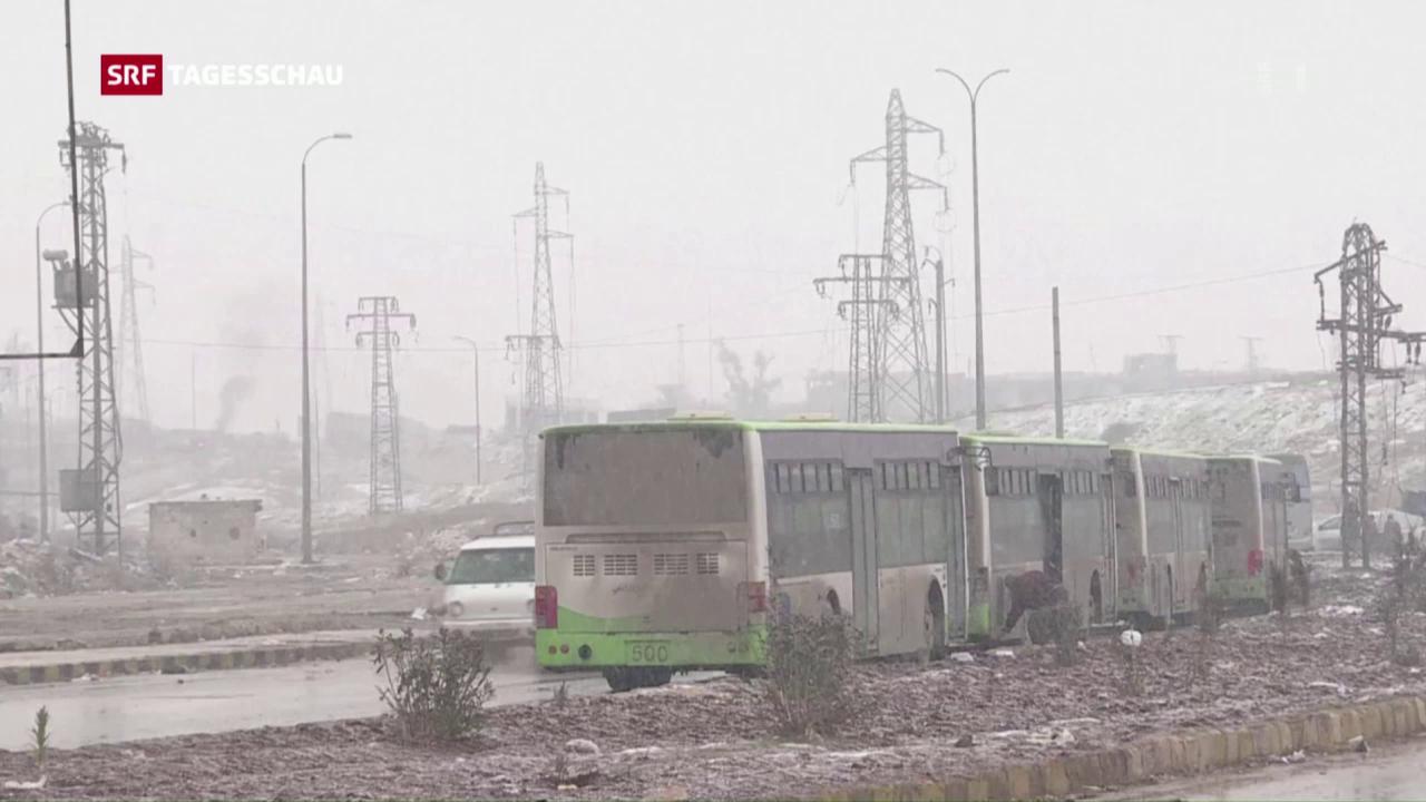 Evakuierung Ost-Aleppos fortgesetzt
