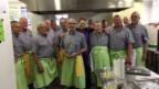 Video «Video voMeta Hiltebrand sorgt im Männer-Kochclub für Wirbel» abspielen