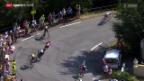 Video «Rad: Tour de France, 16. Etappe» abspielen
