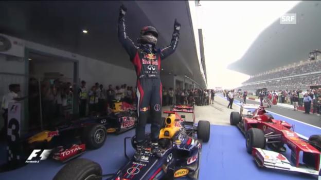 Video «Highlight des Monats: Sebastian Vettels 3. WM-Titel» abspielen