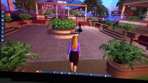 Video «Eva Wannenmacher kehrt ins «Second Life» zurück» abspielen