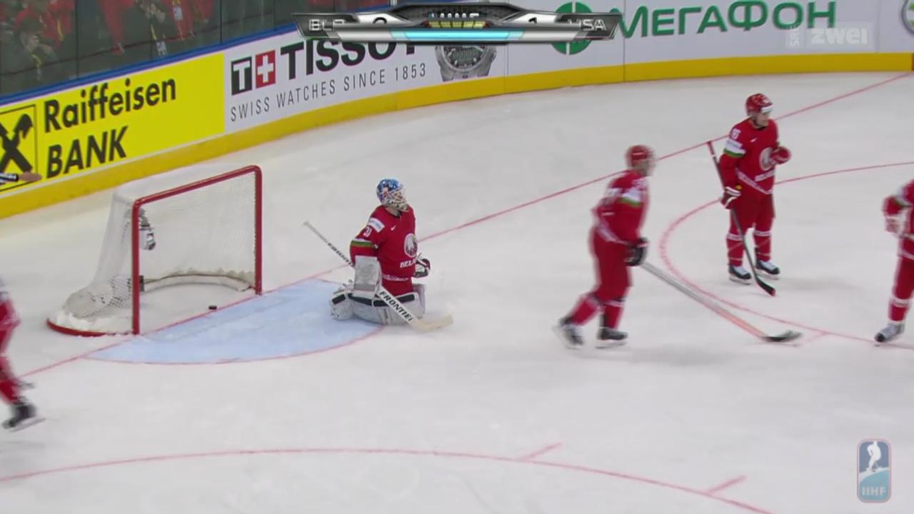 Eishockey: Weissrussland verliert Auftakt gegen USA