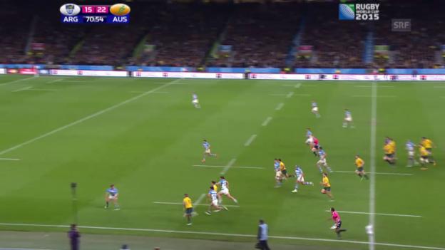 Video «Rugby: WM, Halbfinal Australien - Argentinien» abspielen