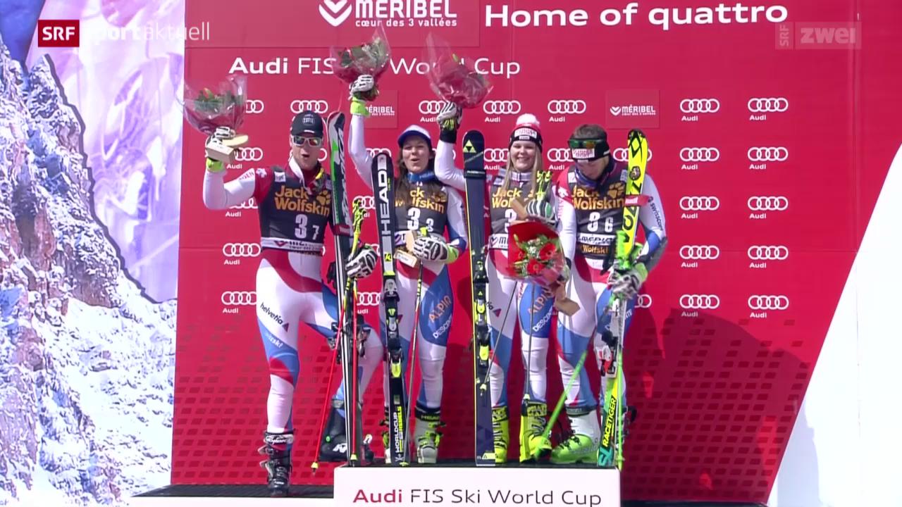 Ski alpin: Saisonfinale in Méribel, Teamevent