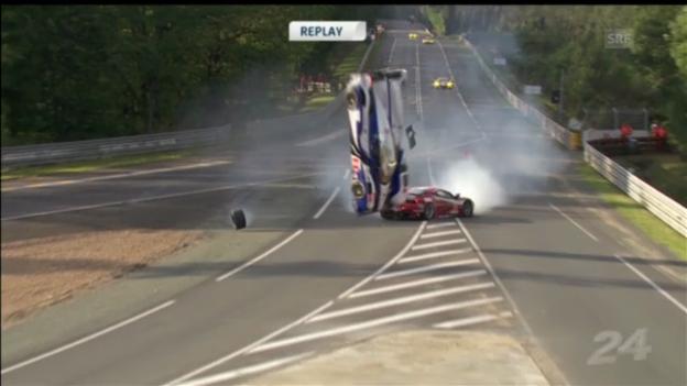 Video «Motorsport: Le Mans Unfälle («sportpanorama»)» abspielen
