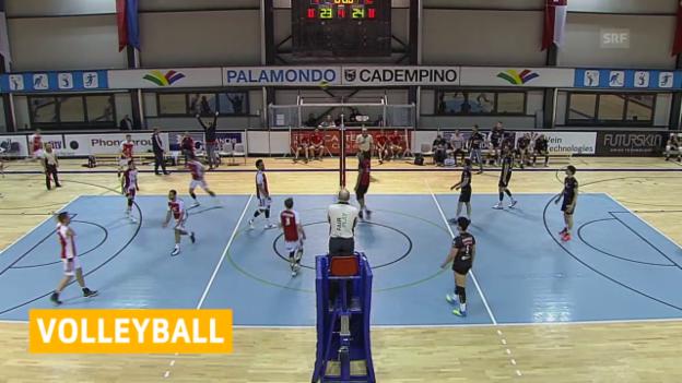 Video «Volleyball: Playoff-Final, Spiel 1 Lugano - Lausanne» abspielen