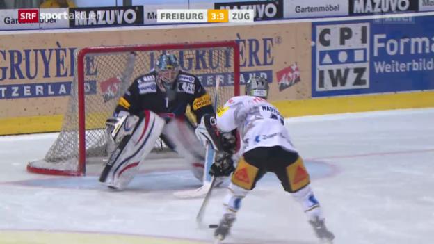 Video «Eishockey: NLA, Freiburg - Zug» abspielen