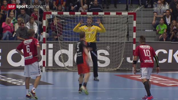 Video «Handball: Aalborg - Kadetten Schaffhausen» abspielen