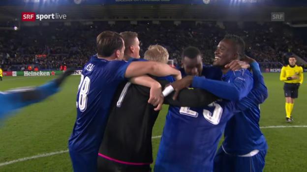 Video «Nach dem Schlusspfiff: Grosse Emotionen in Leicester» abspielen