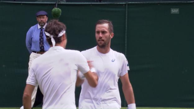 Video «Live-Highlights Federer - Johnson» abspielen