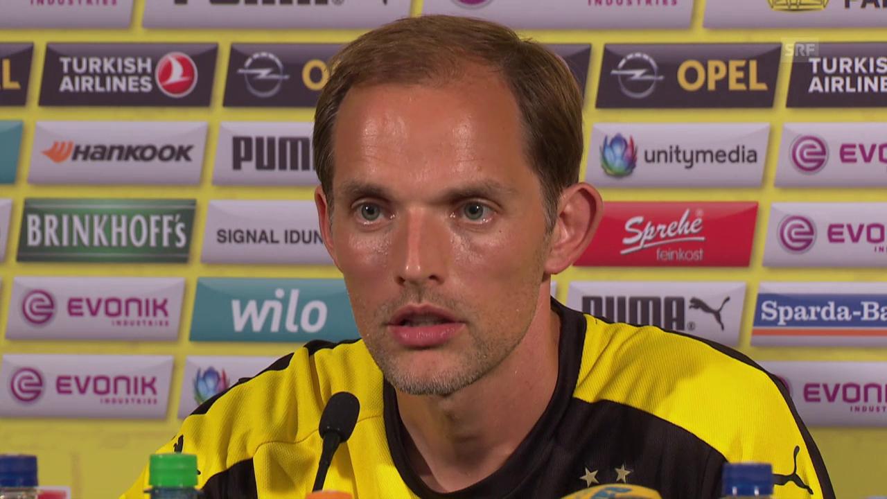 Fussball: BVB-Trainer Thomas Tuchel über die Torhüter-Situation beim BVB