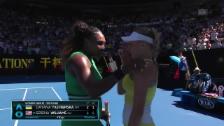 Link öffnet eine Lightbox. Video Nach Matchball: Williams tröstet Yastremska abspielen